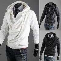2013 fashion personality casual male slim with a hood localize sweatshirt male cardigan