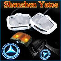 LED 6th gen Car door laser Mercedes Benz Welcome projector Logo light No Drilling For Benz