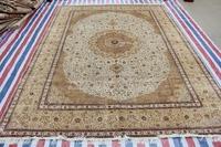 Oriental Carpet Shag Rug For Home Handmade Rug Silk Persian Rug And Carpet For Living Room Carpet For Child Bedroom 9x12 OnSale