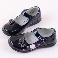 Free shipping Female child princess single shoes shine leather performance shoes 2014 bow
