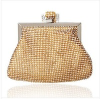 new arrival crystal rhinestones sequince hand clutch bag evening bag fashion casual evening bag party purse --14H
