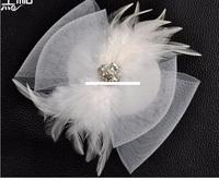The bride wedding dress wedding veil headdress hair accessories