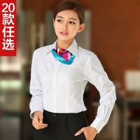 2014 Hot Sale New Women Blouses Blouse Flag Shirt Female Long-sleeve Work Wear Formal Ol Plus Size Tooling Women Dress Shirts