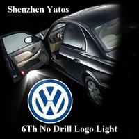 6th Generation Volkswagen Led door logo welcome light projector laser lamp Volkswagen Ghost Shadow light