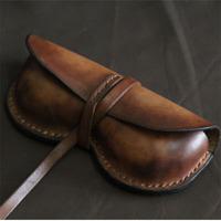 Glasses box sunglasses kindredship leather genuine leather handmade