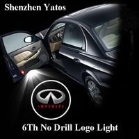 6th generation Car Led Door Light for Infiniti Led Logo Light Led Car Decoration Ghost Shadow Light lamp Welcoming light