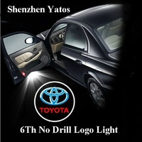 6th Generation Toyota Logo Projector Ghost Shadow Light Toyota Door Welcome Light No Drill