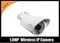 Free shipping  1.0 Mega Pixels IP IR wireless Camera with 20m IR distance sd supoprt Onvif+P2P
