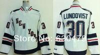 Free Shipping new arrival 2014 Stadium Series Premier New York Rangers Ice Hockey Jerseys 30 Lundovist  White Jersey