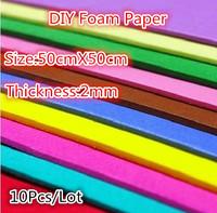10PCS/LOT 50x50cm/ 2mm Thickness Foam sheets,Sponge paper,24color can choose,Foam paper,Punch foam,Foam crafts. Easy to cut,DIY