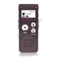 Rechargeable 8GB Voice Activated USB Digital Audio Voice Recorder Dictaphone MP3 Player Coffee Drop shipping With Retail Box