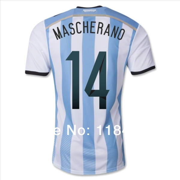 Best Throwback World Cup Argentina MASCHERANO Football Jersey Supplier(China (Mainland))