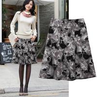2014 women's autumn and winter fancy gorgeous casual plus size a-line skirt bust skirt medium skirt customize 1250