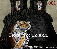 Home Textile Black Tiger Bedding Sets Queen Size Bedding Bed sheets Bed set Duvet Quilt Cover Pillow Case Bedsheet Home garden