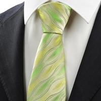 New Green Ripple Wave Pattern Men's Tie Necktie Wedding Party Holiday Gift   326