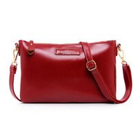 2014 women's handbag cowhide envelope bag casual bag small day clutch women's messenger bag