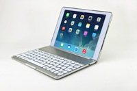 High Quality Fashion Luxury Automatic Aluminum Wireless Bluetooth Keyboard Case Cover For iPad Air/5 Free Shipping