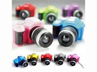 Colorful Mini SLR Camera Keychain Keyring Pendant Flash Ornament Decoration [GM29]