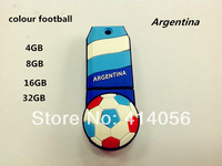 2014 World Cup colour football- Argentina model USB2.0  Usb flash drive 4GB 8GB 16GB and 32GB pen drive free shipping