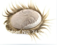 Men's toupee, 6inch braziiian human hair pieces lace base , soft silk staight tanlge free no shedding 6*8/7*9/8*10