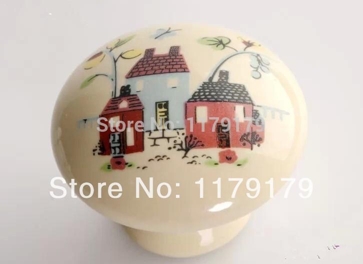 furniture accessories, cat cartoon knob pull soft gum pull European countryside style knob(China (Mainland))