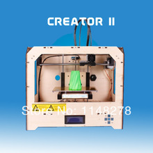 1pcs 3D printer -5 dual nozzle wite 1 pcs ABS 1.75mm filament By DHL area free shipping cost