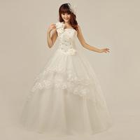 Wedding dress princess formal dress 2013 wedding one shoulder strap sweet princess wedding dress