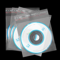100 pcs/Lot Clear DVD CD Cases Sleeves Bags