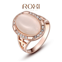 ROXI Classic Crystals Sample Sales Rose Gold Plated Round Stone Ring Jewelry Party OFF2010221350