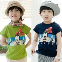 free shipping 2014 summer cartoon animal boys clothing girls clothing baby child short-sleeve T-shirt tx-1072