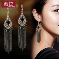 Handmade bohemia tassel earrings female long design accessories earrings drop earring