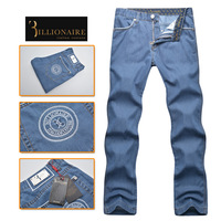 Billionaire italian couture men's clothing jeans 2014 100% cotton straight