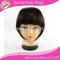 "Sunnymay Stock 6"" Fashion Straight 100% Malaysian Human Virgin Hair Extension Clip In Bangs Fringe"