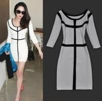 2014Women's Cotton Casual Dress Stragiht Winter Dress Free Shipping Summer Dress Women Dress 7Colors Women Clothing