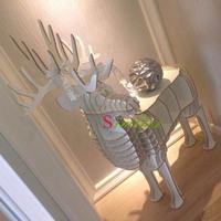 Deer puzzle table,animal furniture for living room,DIY mdf animal table,deer bookcase,Animal Multi-Purpose Furniture,deer rack