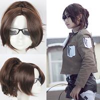 Shingeki no Kyojin /Attack on Titan hanji.zoe brown cosplay Anime hair wig