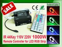 LED 44key remote rgb controller 220v 110v control , 1000W
