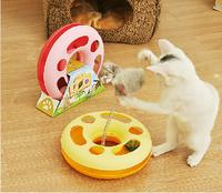 Pet cat toy crazy amusement wheel cat game disk