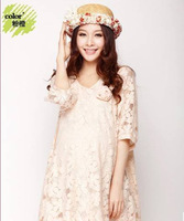 Maternity lace Dress Vestidos Plus Size Casual Clothes Dresses For Pregnant Women Summer Spring Autumn Winter New Hot