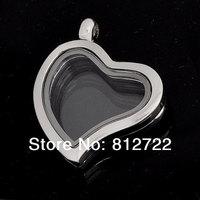 5pcs Vnistar Heart Glass Floating Lockets Zinc Alloy Locket Pendants VSP012