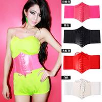 Candy Corset Straps Wide Girdle DS Performance Clothing JAZZ Dance Costume Female Singer Nightclubs Bars Waist Belt