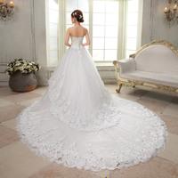 Free Shipping~Luxury CHAPEL TRAIN rhinestone princess bride Wedding Dress Gown Bridal Ball Size 4-6-8-10-12-14