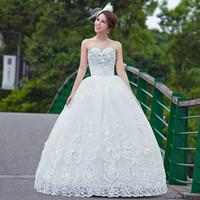 Free Shipping~the bride wedding dress bandage slim Wedding Dress Gown Bridal Ball Size 4-6-8-10-12-14