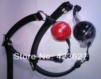 Mouth Gag Ball belt sex toy adult toys  Black/Red Soft ball