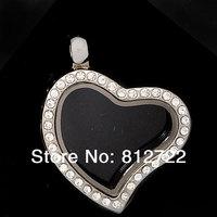 5pcs Vnistar Heart Floating Lockets Zinc Alloy Locket Pendants Glass Pendants VSP013