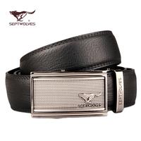 Septwolves male strap commercial cowhide belt casual automatic buckle belt