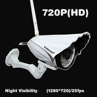 New 1.0 Megapixels 720P HD Lens 6mm Wifi Wireless H.264 PNP Outdoor Weatherproof IR Cut Night Vision Security Network IP Camera
