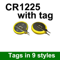 Free shipping wholesale 1000pcs/lot Lithium 3V Button Cell / Coin Cell Battery CR1225 with tab