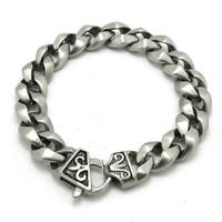 BC0068 Fashion Dull Polish Unisex Chain Bracelet 316 Stainless Steel Hot Sale Wholesale Cool Punk Style Dull Polish Bracelet