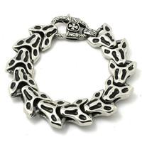 BC0027 Charming Skull Bash Links Bracelet 316 Stainless Steel Hot Sale Wholesale Cool Punk Style Top Sliver Bracelet